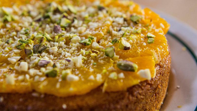 Orange Almond Polenta Cake With Panforte Syrup The Chiappas