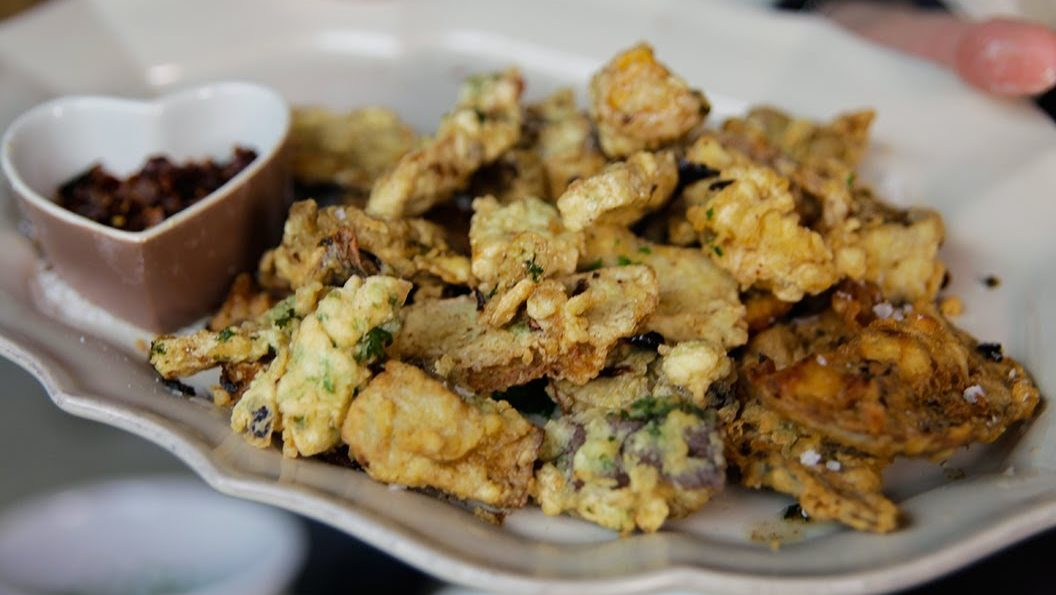 Deep Fried Porcini Mushroom recipe by The Chiappas