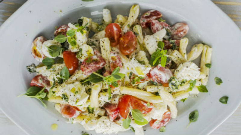 Caprese Pasta Salad recipe by The Chiappas