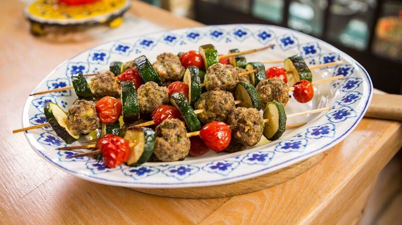 Meatball Skewers Spiedini Recipe by The Chiappas