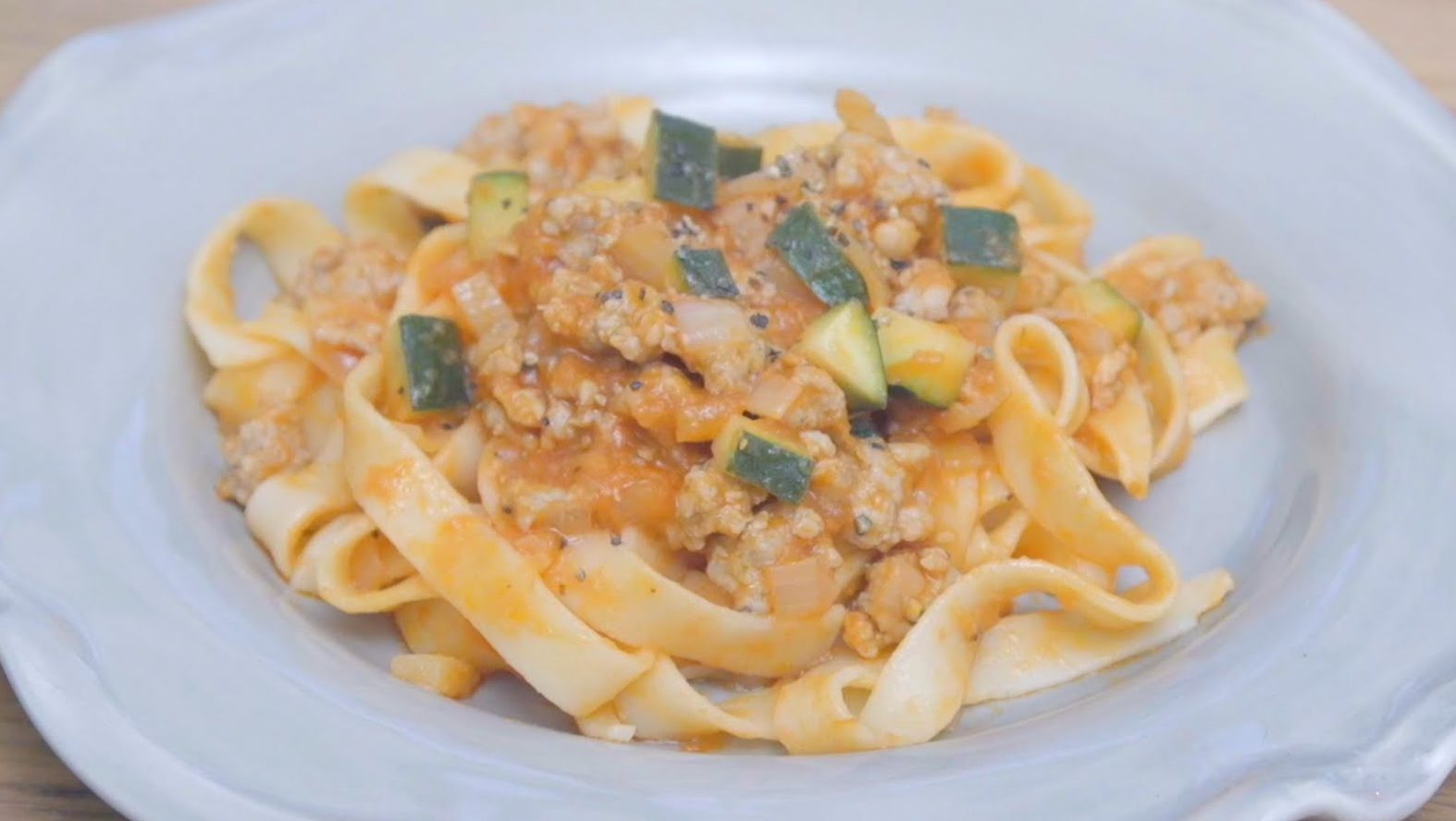 Sausage Zucchini and Tomato speedy pasta sauce recipe by The Chiappas