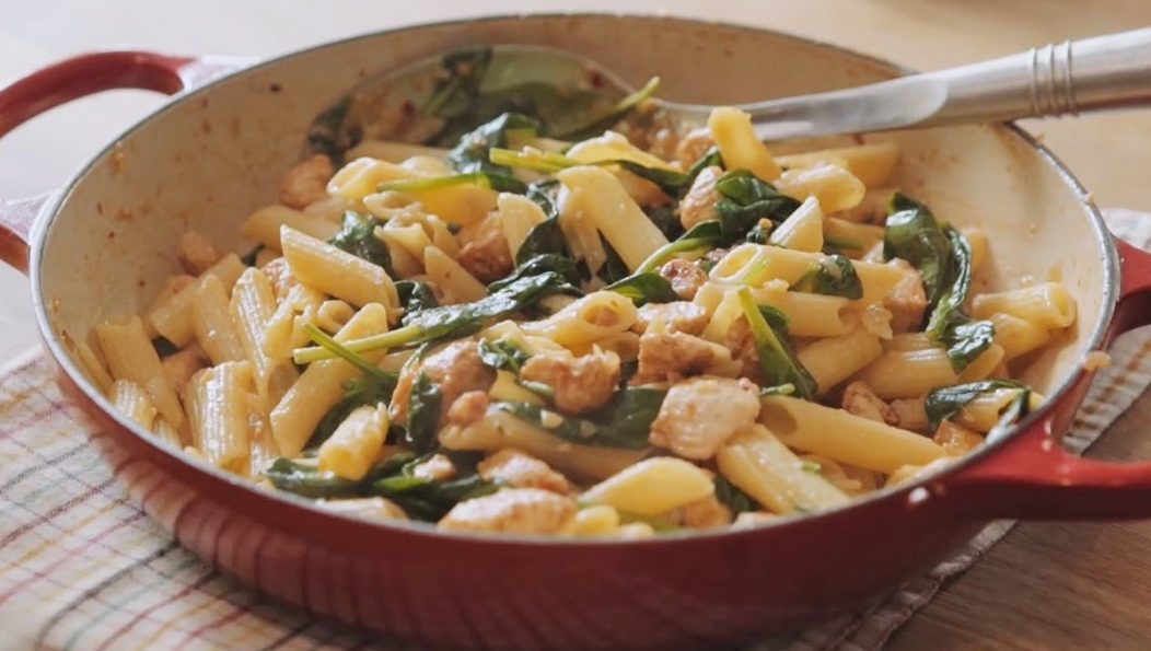 Chicken Pancetta and Spinach Pasta Sauce with Bertolli Recipe by The Chiappas